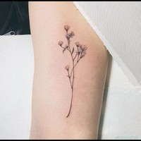 Flower Temporary Tattoo