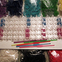 Rainbow Loom Mega Kit - 2 Looms and Hooks + 3,000 bands + 120 S Clips + 5 Charms - To Make Rubber Band Bracelets - 2 For 1