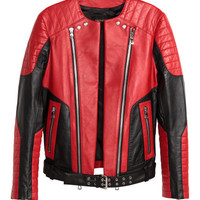 Leather Biker Jacket - from H&M