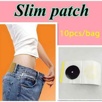 60pcs  help sleep lose weight slimming Patch lose weight fat Navel Stick Burning Fat Magnets of lazy paste