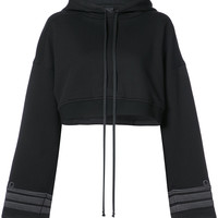 Vera Wang Cuffs Detail Cropped Hoodie - Farfetch