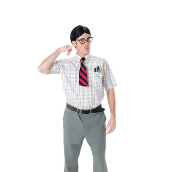 Men Nerd Costume kit