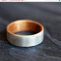 ON SALE Wooden Ring - Harewood with Golden Koa Liner