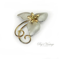 Vintage Bond Boyd Sterling Flower Pin / Brooch