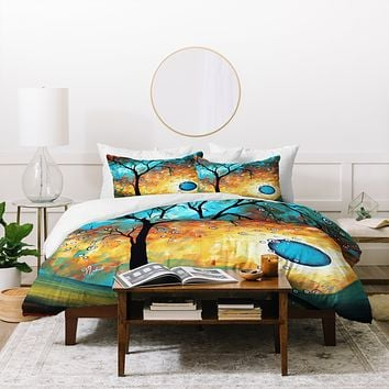Madart Inc. Aqua Burn Duvet Cover