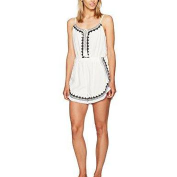 GUESS Women's Sleeveless Topaz Embroidered Romper