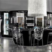 Lacquered wooden kitchen with island DIAMOND Diamond Collection by Brummel Cucine