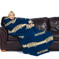 "Pittsburgh Panthers NCAA Adult Stripes""Comfy Throw Blanket with Sleeves"""