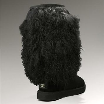 UGG Sheepskin Cuff Tall 3166 Boots Black
