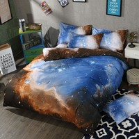 Galaxy Bedding 3D Space Bedding Set Quality Duvet Cover Galaxy Bed Set Beddings Single Full Queen King Size