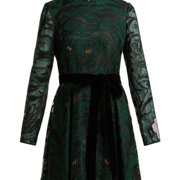 Animal eye and print-embroidered tulle dress | Valentino | MATCHESFASHION.COM US