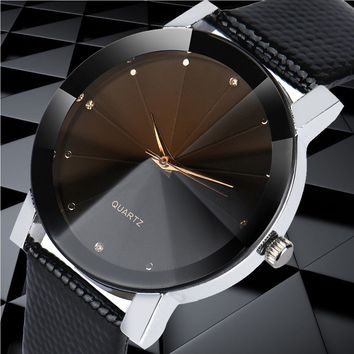 Luxury Quartz Sport Military Stainless Steel Dial Leather Band Wrist Watch for Men&Women Jewelry Design