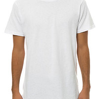 The Elongated Tall Drop Tee in White
