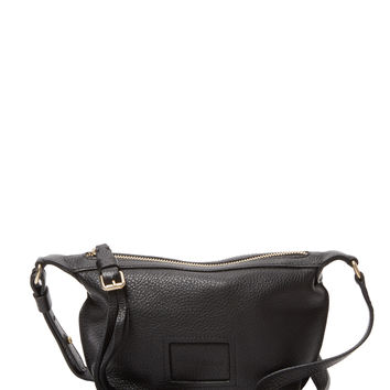See by Chloe Women's Small Buckle & Tassel Pull Leather Crossbody - Black