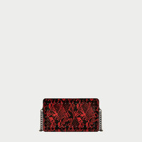 EMBOSSED CROSSBODY BAG WITH STUDS DETAILDETAILS