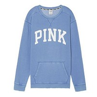 """PINK"" Victoria's Secret Shirt Pullover Sweater Blouse Top(7-Color) Blue"