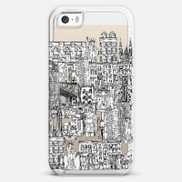 New York toile de jouy transparent iPhone 5s case by Sharon Turner | Casetagram