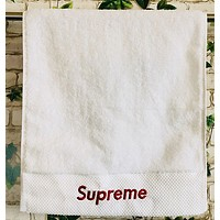 Supreme men and women adult cotton towel cotton soft absorbent white towel couple