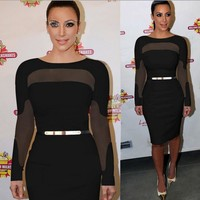 kim kardashian dress 2017 Women Summer Dress Bodycon Elegant Party Dresses Sexy Vestidos Vestido De Festa Robe lace dress