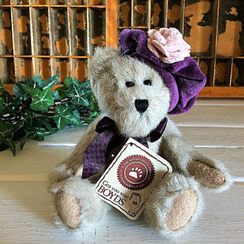 Boyd Bear, Best Dressed, Vintage Boyds, Boyd Sasha, Boyd Petite Bear, Boyds Teddy Bear, Collectible Bear, Boyd Bear With Tags, Birthday Bear