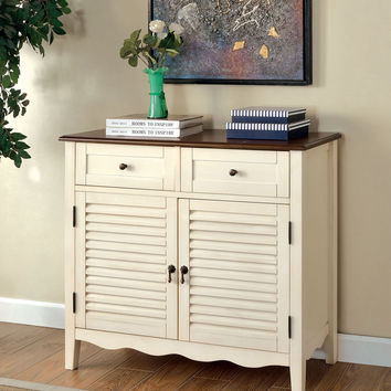 CABINET W/ 2 DOORS, CHERRY & VINTAGE WHITE FINISH CM-AC131WH OLEIDA COLLECTION