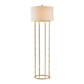 Brunei 1 Light Floor Lamp In Gold Leaf Gold Leaf