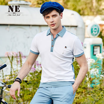 Summer England Style Slim Men Shirt T-shirts [7951250563]