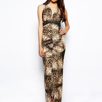 Jessica Wright Soho Animal Print Maxi Dress - Brown