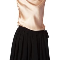 Moschino Cheap & Chic draped and flared skirt