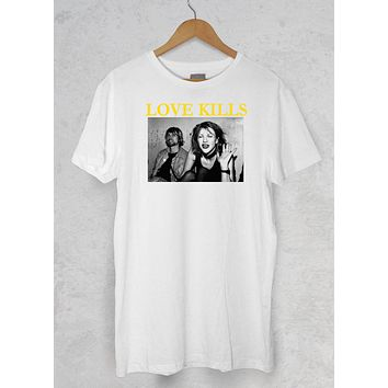 Love Kills Kurt Cobain Nirvana Graphic tee T Shirt