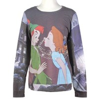 Disney Peter Pan Kiss Girls Pullover Top Size : Medium