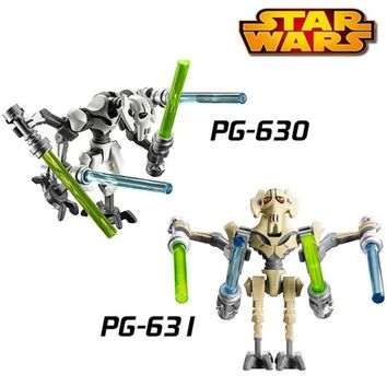 Star Wars Force Episode 1 2 3 4 5  General Grievous With Lightsaber W/Building Blocks Bricks Figures Toys for Children Boys Gifts LegoINGlys  AT_72_6