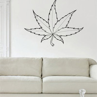 Leaf Version 2 Design Decor Nature Decal Sticker Wall Vinyl Art