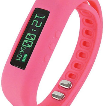 Supersonic Sc-62Sw Pink Bluetooth(R) Smart Wristband Fitness Tracker (Pink)