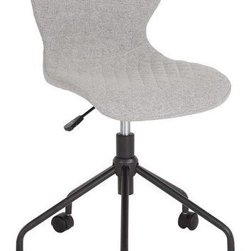 Somerset Home and Office Upholstered Task Chair in Light Gray Fabric [LF-9-07-LTG-F-GG]
