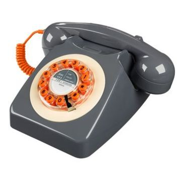 Retro 1960's Concrete Grey Telephone