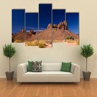 Bizzare Rock Formation In Algeria Multi Panel Canvas Wall Art