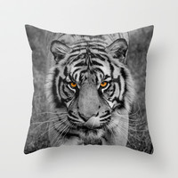 TIGER PORTRAIT Throw Pillow by catspaws
