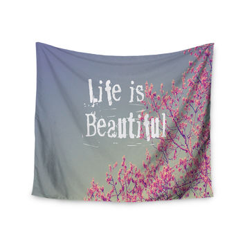 "Rachel Burbee ""Life is Beautiful"" Wall Tapestry"