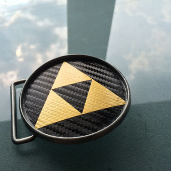Triforce Belt buckle Zelda themed (With belt of your choice) Link , Hyrule , Nayru