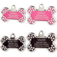 TagWorks Blingz Personalized Bone ID Tag with Crystals - Summer PETssentials - Dog - PetSmart