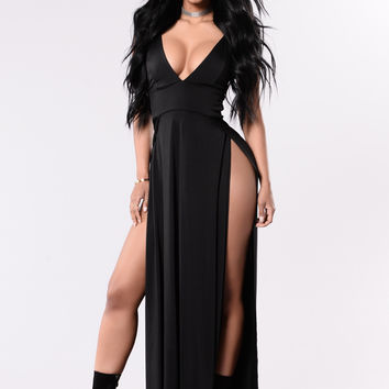 Side Show Dress - Black