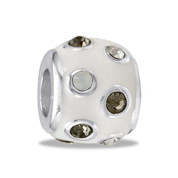 DaVinci Beads White CZ Dots Jewelry