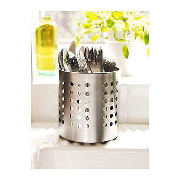 NEW IKEA Cutlery Caddy Stainless Steel Utensil Holder Kitchen Organizer ORDNING