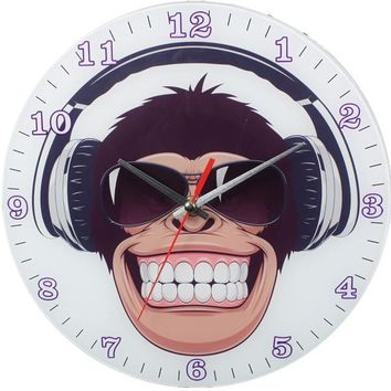 Happy Monkey Wall Clock - CASE OF 12