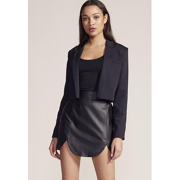 BB Dakota - Stay Sharp Black Cropped Jacket