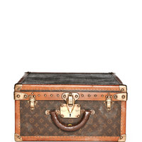 Simon Teakle Vintage Louis Vuitton Trunk Brown