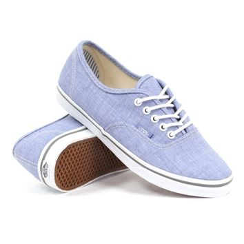 Vans Women's Authentic Lo Pro (Chambray Blue/True White) Women's Shoes