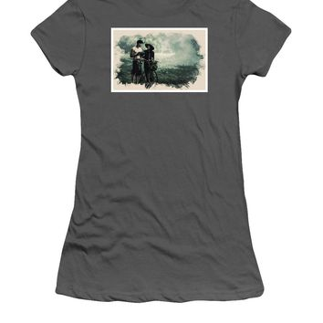 Watercolor Conseptual Landscape - Deep In The Forest - Women's T-Shirt (Athletic Fit)