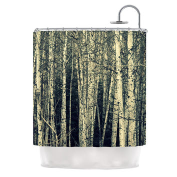 "Robin Dickinson ""Birch"" Beige Tan Shower Curtain"